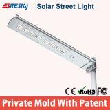 Patente nova Designall em uma luz de rua solar do diodo emissor de luz do poder superior com bom serviço