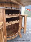 Estante del almacenaje del vino de madera sólida con el vector que visualiza los muebles caseros