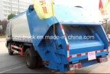 Yuejin 5cbm Compressor Garbage Truck clouded