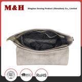 Echtes Leder-bewegliche graue Entwerfer-Nullhandtaschen
