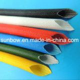 chemise de fibre de verre en caoutchouc de silicones 7kv pour l'isolation de fil