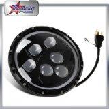 달무리 반지를 가진 지프 논쟁자를 위한 LED 헤드라이트, DRL를 가진 60W 둥근 LED 헤드라이트