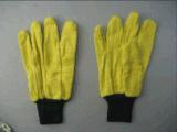 노란 저어지 강선 니트 손목 면 작동 장갑 (2130)