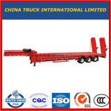 3 차축 60 톤 13m 낮은 침대 세미트레일러 또는 반 Lowboy 트럭 트레일러