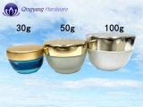 Tarro 30 g Crema cosmética de vidrio con tapas de aluminio-plástico