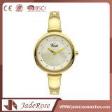 正確な金の標準的な女性の水晶デジタル腕時計