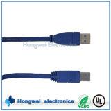 Высокоскоростной USB 3.0 Am к кабелю принтера компьютера Bm