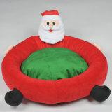 Design Almofada para cães de Natal Flocou Papai Noel Round Pet Beds