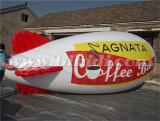 Zeppelin gonfiabile di pubblicità lungo dell'elio di 6m, piccolo dirigibile gonfiabile del dirigibile del PVC da vendere K7091