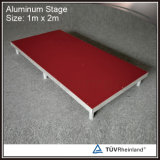 Fase astuta di alluminio mobile della piattaforma di legno portatile poco costosa