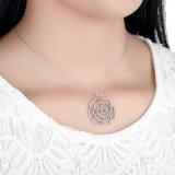 Argento sterlina 925 che luccica la collana Pendant della Rosa, le collane libere della CZ & i pendenti