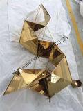 Sculpture en décoration de tenture d'acier inoxydable de métal ouvré d'hôtel