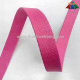 2cmペットカラーおよび鎖のためのピンクの厚くされたヘリンボンポリエステルウェビング