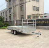 通関サービスの溶接機のトレーラー