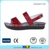 方法デザイン赤く簡単な様式の女性の障害物の靴