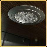 Luz do gabinete do diodo emissor de luz com tampa lisa ou a lente concentrada
