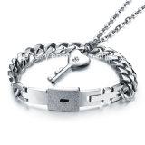 De minnaars vormen Armbanden van het Roestvrij staal van de Armband van het Slot van de Tegenhangers van Juwelen de Zeer belangrijke