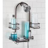シャワー・ヘッドの容器手持ち型の黒いラック棚