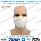 Máscara de poeira Foldable descartável médica da segurança Ffp3