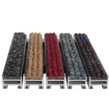 Couvre-tapis en aluminium d'entrée de porte d'anti tapis en caoutchouc commercial de glissade