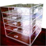 Organizador cosmético de acrílico de la belleza del cubo 5 de los cajones grandes de acrílico de la grada