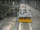 Cuarzo sintético losa de piedra línea de producción y máquina de la prensa
