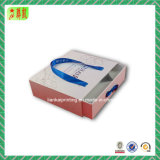 Casella del cassetto del contenitore di carta di cartone con la maniglia e l'inserto