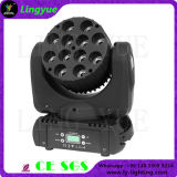 12X12W DMX512 RGBW Movinghead LED Feixe DJ Stage Luz
