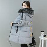 Зимы новых женщин Длинн-Параграфа корейская тонкая Mianfu более толщиная теплая куртки Mianmao ворота куртка вниз