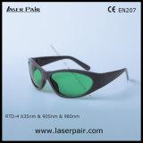 El tipo de moda de gafas de seguridad de laser del diodo rojo laser 635nm y 905nm/980nm protege longitud de onda: 630-660nm y 800-830nm &900-1100nm con el marco 55