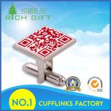 Изготовленный на заказ синтетические Cufflinks золота металла с трудным логосом эмали