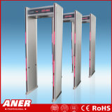 Caminata pública de la puerta del detector de metales de la entrada a través del detector de metales para controlar de la seguridad hecho en China