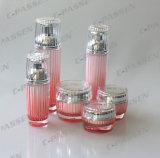 Frasco acrílico cor-de-rosa de cristal de empacotamento cosmético do frasco da chegada nova (PPC-CPS-078)
