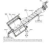 Pantalla mecánica del tambor rotatorio para el tratamiento de aguas residuales