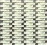 Mosaico di vetro quadrato della curvatura e del marmo per il bordo della parete della cucina (M855041)