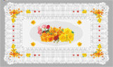 Tablecloth transparente impresso PVC popular quente de 90*145cm do projeto independente (cor cheia)