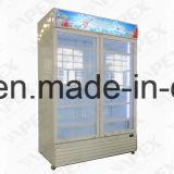 Refrigerador de Showcase de porta dupla de 1400L em arrefecimento de alta velocidade