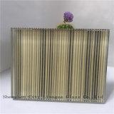 Glas des 5mm+Silk+5mm Grau-Spiegel-lamellierten Glas-/Zwischenlage/Sicherheitsglas des ausgeglichenen Glas-/