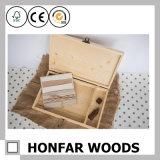 Коробка хранения подарка восхитительная деревянная упаковывая для домашнего украшения