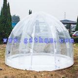 방수 옥외 야영 큰 겹켜 PVC 다채로운 청결한 돔 팽창식 거품 천막
