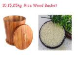 Rectángulo cónico de madera de Ricer de la dimensión de una variable del acacia
