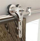 Porta de madeira deslizante dobro da ferragem da porta de celeiro que desliza o sistema