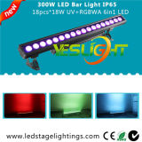 CREE LED Light Bar 18PCS * 18W RGBWA + UV 6in1 LEDs para casamento ao ar livre
