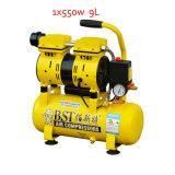 550W 9L doppelter Zylinder-leiser ölfreier Luftverdichter