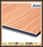 Comitato composito di alluminio materiale della decorazione di legno di colore