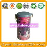 Le thé peut pour le conditionnement des aliments en métal, cadre rond de bidon de thé
