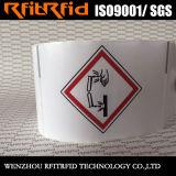 Estrangeiro da freqüência ultraelevada/etiqueta escala longa RFID Ghs de Impinj para a logística química