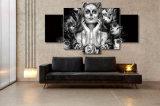 HD druckte Tag des toten Gesichts-Farbanstrichs auf Segeltuch-Raum-Dekoration-Druck-Plakat-Abbildung-Segeltuch-Farbanstrich Mc-004
