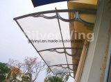 大きい屋外DIYのポリカーボネートのバルコニーのプラスチック日除け(YY1500-H)