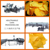 Linhas Hexagon Batata Chip Triangle Corn Chip Processing Line